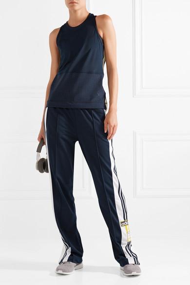 adidas by Stella McCartney Tanktop aus Climacool®-Stretch-Mesh mit Streifen