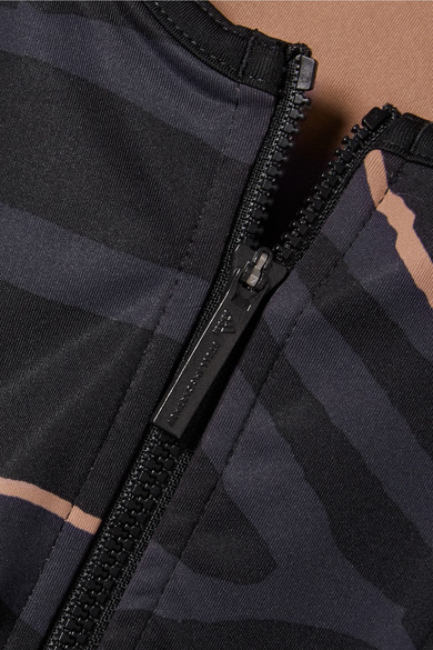 adidas by Stella McCartney Train verkürztes Oberteil aus bedrucktem Climalite®-Stretch-Material