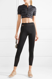 Train cropped printed Climalite stretch top