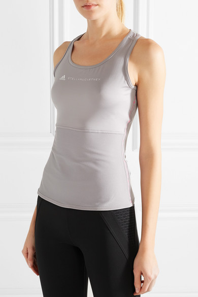 adidas by Stella McCartney Performance Essentials Tanktop aus Climalite®-Stretch-Material mit Mesh-Einsätzen