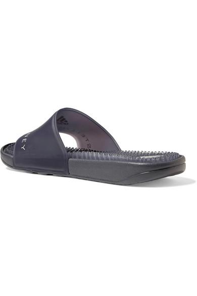 Logo-printed Rubber Slides - Charcoal adidas by Stella McCartney nupL0tD