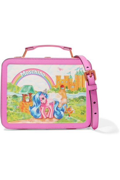 Moschino - My Little Pony Lunchbox Printed Leather Shoulder Bag - Pink