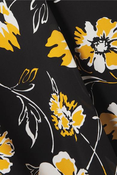 Michael Kors Collection Midikleid aus Crêpe de Chine aus Seide mit floralem Print Sammlungen Günstiger Preis Breite Palette Von Online Spielraum Ansicht Perfekt Günstig Online Verkauf Echt mdk1PLtU