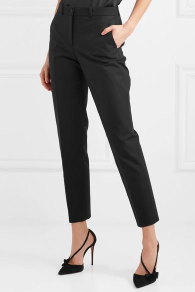 Samantha Cropped Cotton-blend Straight-leg Pants - Black Michael Kors ls35Fi8xJk