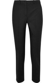 Samantha cropped cotton-blend straight-leg pants