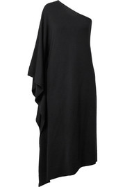 Michael Kors Collection One-shoulder asymmetric cashmere dress