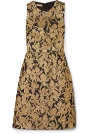 Michael Kors Collection Metallic jacquard dress