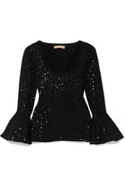 Michael Kors Collection Embellished stretch-knit top