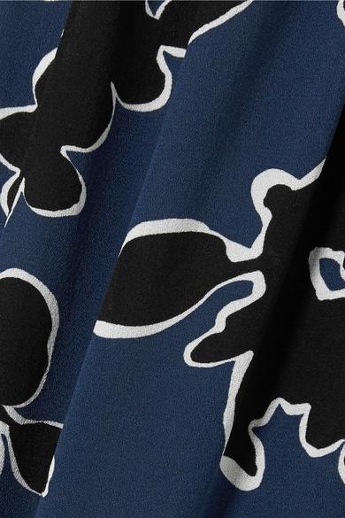 Michael Kors Collection Hose mit weitem Bein aus Seiden-Georgette mit Blumenprint Beliebt Rabatt Offiziell Freies Verschiffen Empfehlen Billig Verkaufen Billig EFwgVi