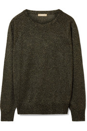Michael Kors Collection Metallic knitted sweater