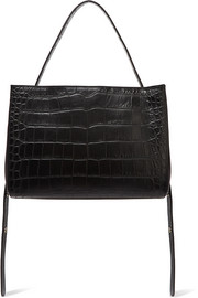 Little Liffner Croc-effect leather tote