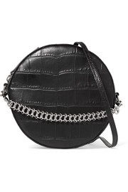 Little Liffner Tambourine croc-effect leather shoulder bag
