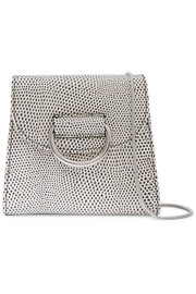 Little Liffner D Tiny Box lizard-effect leather shoulder bag