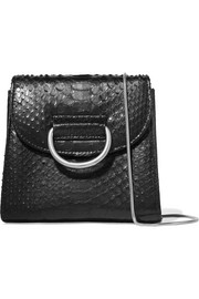 Little Liffner Tiny Box D python shoulder bag