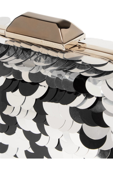 Spielraum In Mode Jimmy Choo Cloud Clutch aus Metall mit Paillettenverzierung Großer Rabatt Billiges Countdown-Paket Ost Veröffentlichungstermine nGWkEtVW