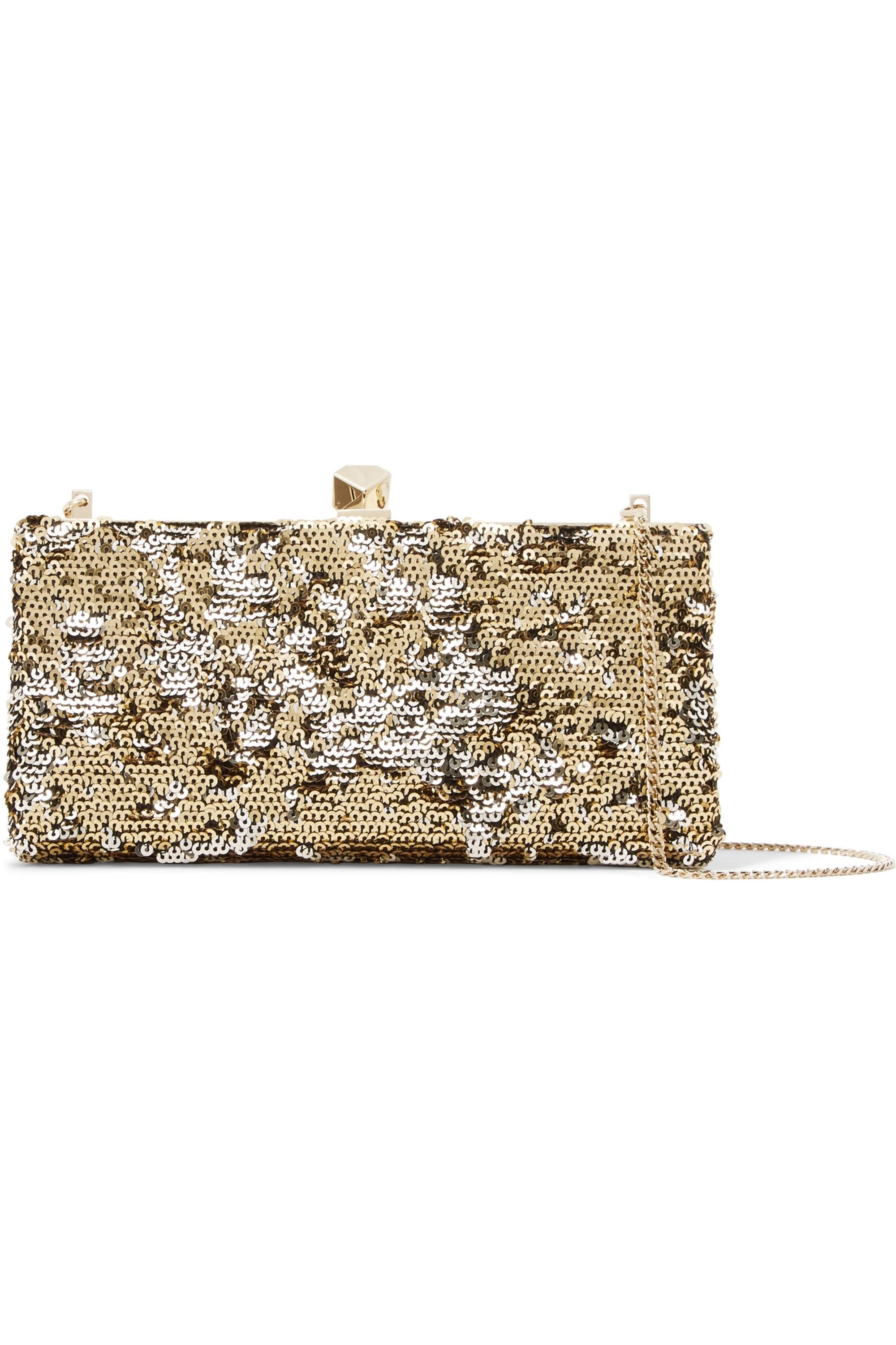 Jimmy Choo Celeste sequined canvas clutch