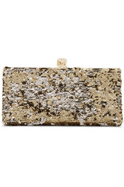 Celeste sequined canvas clutch
