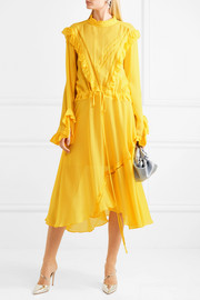 Deanna ruffled georgette midi dress