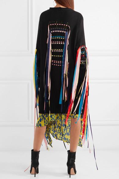 Preen Line Erya Cardigan aus einer Baumwollmischung mit Schleifenverzierung