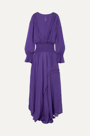 Aria ruffled chiffon maxi dress