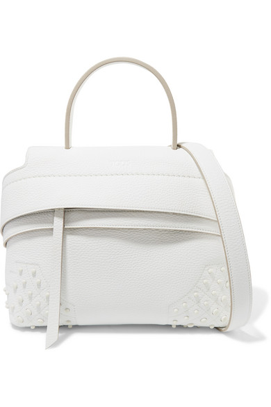a3fc88ada6c Tod's | Wave mini studded textured-leather tote | NET-A-PORTER.COM