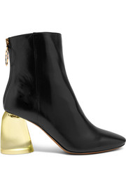 Ellery Leather and Perspex ankle boots