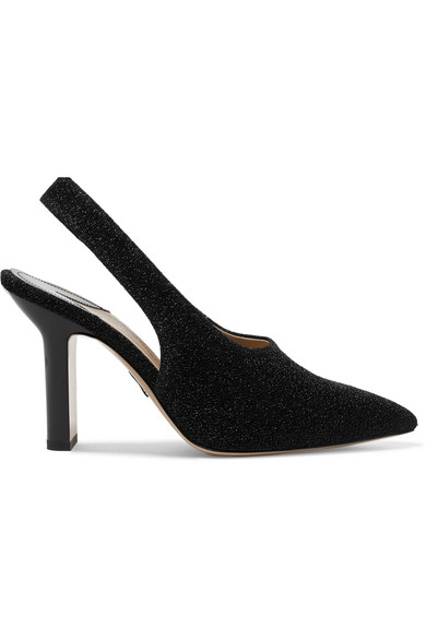 Paul Andrew Stella Slingback-pumps Made Of Textured Lame