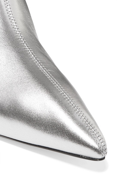 Paul Andrew Mangold Ankle Boots aus Metallic-Leder