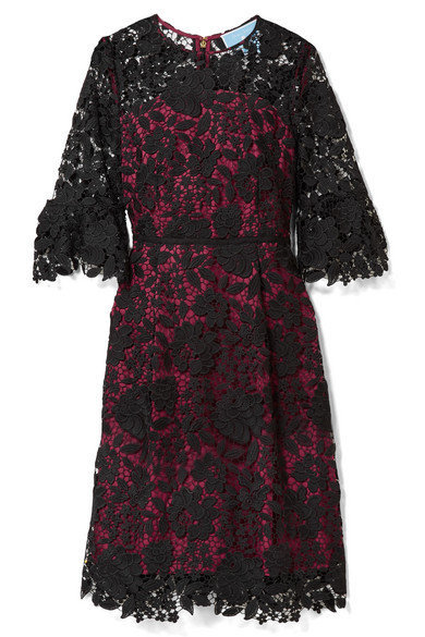 Draper James - Rosslyn Lace And Twill Dress - Magenta
