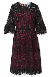 Rosslyn lace and twill dress