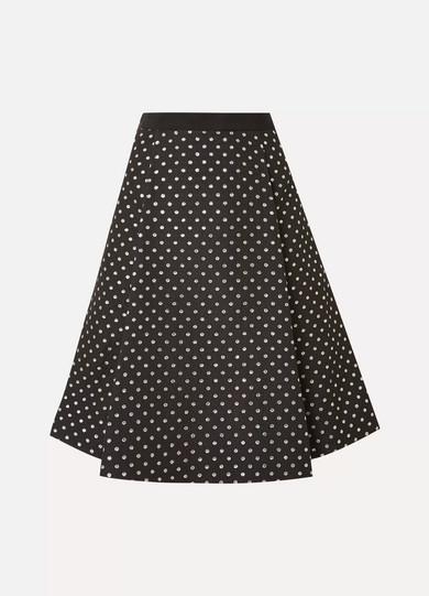 Draper James - Polka-dot Jacquard Skirt - Black