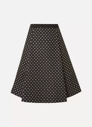 Polka-dot jacquard skirt