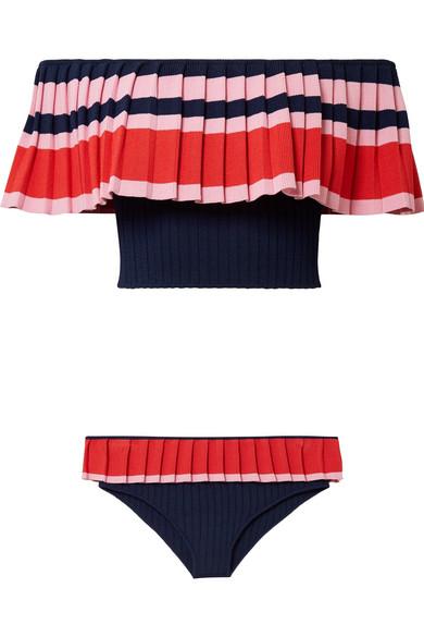 Tabula Rasa Toque schulterfreier Bikini aus geripptem Stretch-Strick