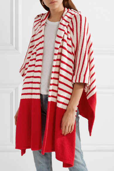 Tabularasa Jahan Striped Union Of Toweling From A Cotton Blend Hooded