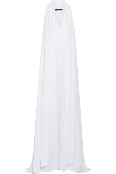 Juan Carlos Obando - Santos Crepe De Chine Gown - White