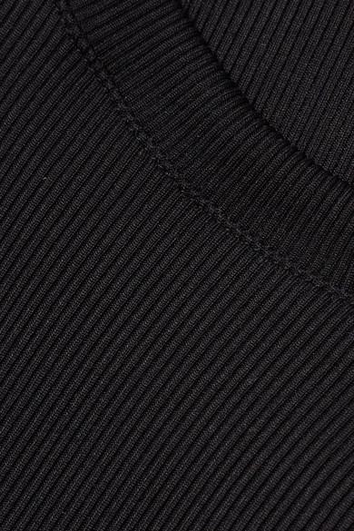 Solid & Striped The Meghan Bikini aus geripptem Stretch-Strick