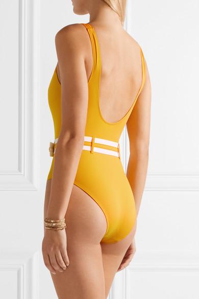 Solid & Striped The Victoria Badeanzug mit Gürtel