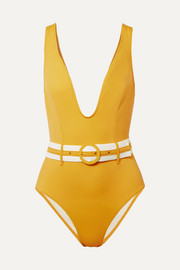 Solid and Striped The Victoria belted swimsuit