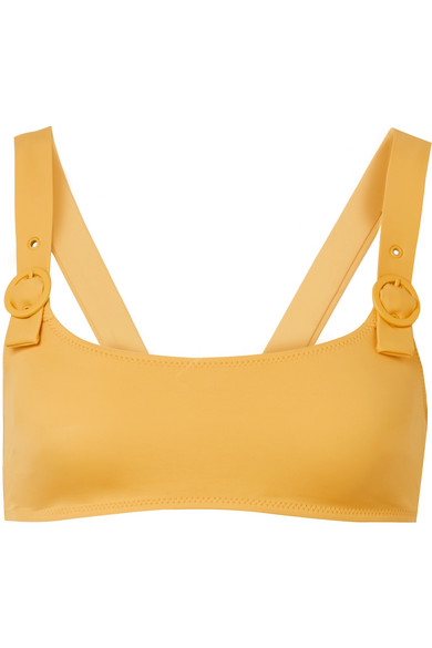 Solid and Striped - The Evelyn Bikini Top - Mustard