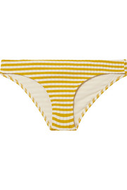 Solid and Striped The Elle striped ribbed stretch-knit bikini briefs