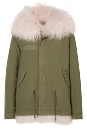 MR & MRS ITALY Hooded shearling-lined cotton-canvas parka