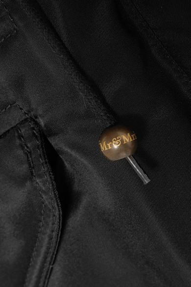 MR & MRS ITALY New York Daunenjacke aus Shell mit Shearling-Besatz