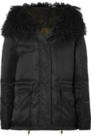 MR & MRS ITALY New York shearling-trimmed shell down jacket