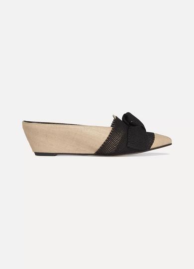 Trademark Adrien Wedge-Slippers aus Jute mit Schleifenverzierung