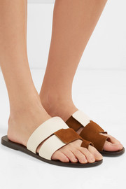 Cadiz leather and suede sandals