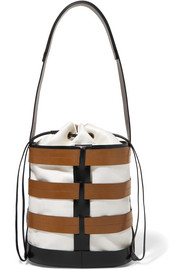 Hesse canvas and leather bucket bag
