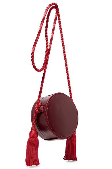 Hillier Bartley Tasseled Collarbox Schultertasche aus Glanzleder