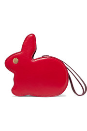 Bunny leather clutch