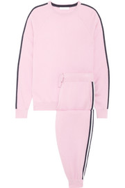 Olivia von Halle Malibu silk-blend sweatshirt and track pants set