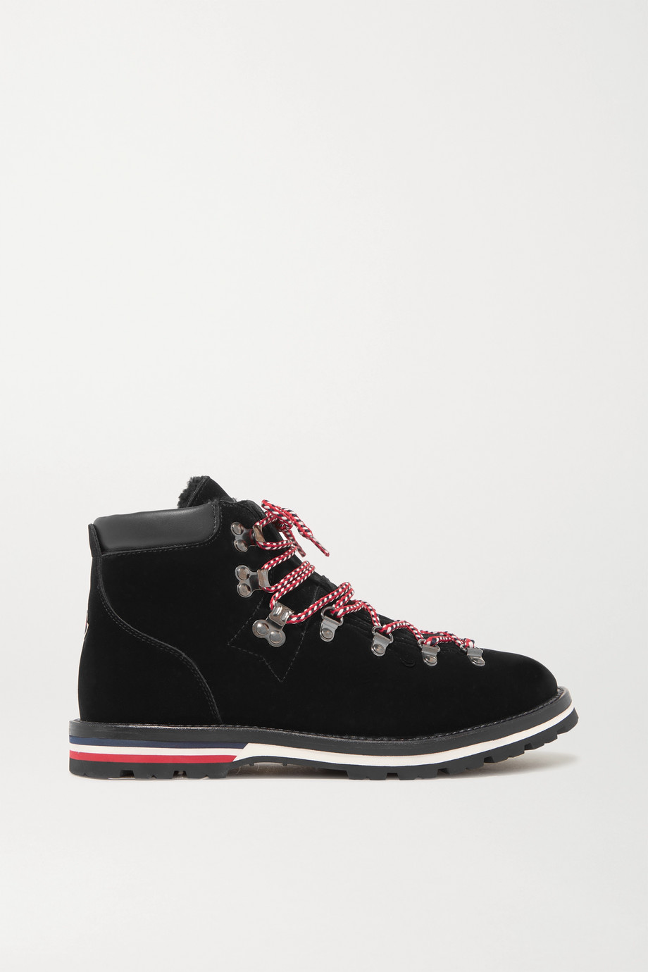 Blanche shearling-lined velvet ankle boots